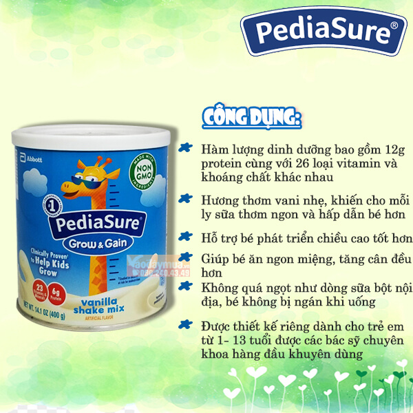 Sữa Pediasure Grow and Gain dạng bột 400g